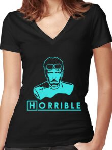 Dr. House's Horrible Sing-Along Glow Women's Fitted V-Neck T-Shirt