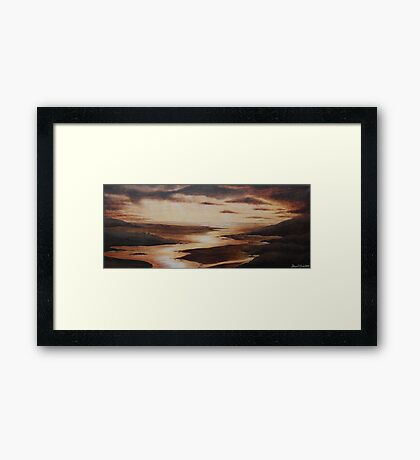 'Golden Glow'  Mawddach Estuary Framed Print