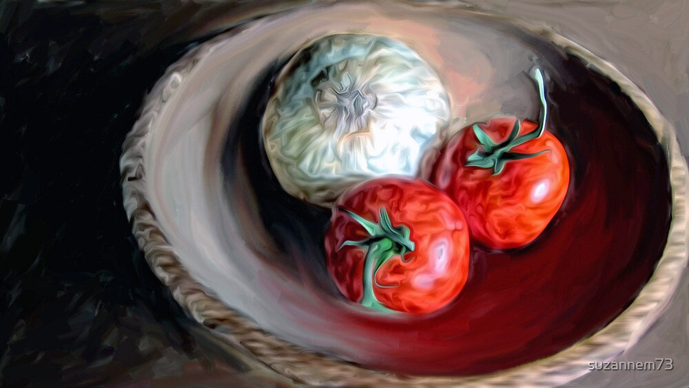 Onion and Tomatoes by suzannem73