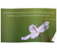 Flower Poem Poster