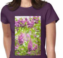 Purple Syringa vulgaris Womens Fitted T-Shirt