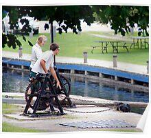 Opening the Locks - Chaffeys Locks Ontario Poster