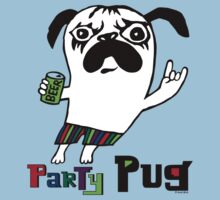 Party Pug on colors by Andi Bird