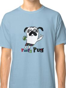 Party Pug on colors Classic T-Shirt