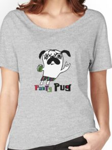 Party Pug on colors Women's Relaxed Fit T-Shirt