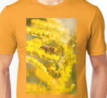 Bee sitting on Solidago virgaurea Unisex T-Shirt