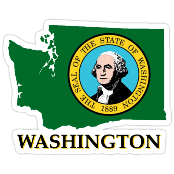 Washington state flag by peteroxcliffe
