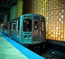 A Blue Line Train to Forrest Park by John Cruz