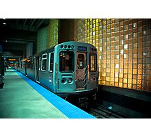 A Blue Line Train to Forrest Park Photographic Print