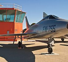 #52-5755 YF-100A Super Sabre side shot by Henry Plumley