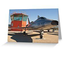 #52-5755 YF-100A Super Sabre side shot Greeting Card
