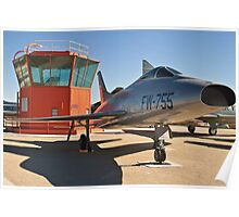 #52-5755 YF-100A Super Sabre side shot Poster