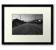 Beach Road  Framed Print