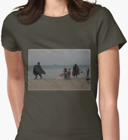 Beach Business Womens Fitted T-Shirt