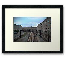 Desolate Trainyard Framed Print