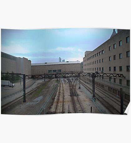 Desolate Trainyard Poster