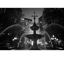 City Hall Fountain - New York City Photographic Print