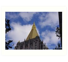 GOLDEN TOP EDIFICE Art Print