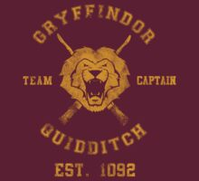 TShirtGifter Presents: Gryffindor Team Captain- Harry Potter Quidditch
