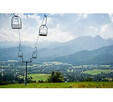 Mountain Cableway Photographic Print
