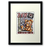 PAW (parody) Framed Print