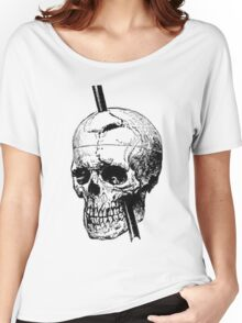 The Skull of Phineas Gage Vintage Illustration Vector Women's Relaxed Fit T-Shirt
