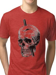 The Skull of Phineas Gage Vintage Illustration Vector Tri-blend T-Shirt