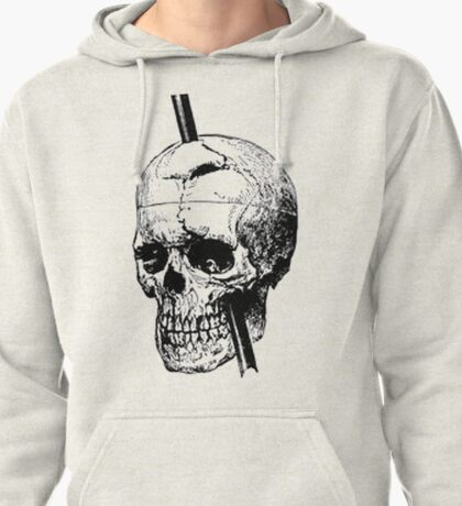 The Skull of Phineas Gage Vintage Illustration Vector Pullover Hoodie