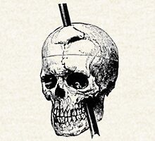The Skull of Phineas Gage Vintage Illustration Vector Hoodie