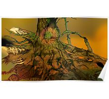 Lymphoy Trees Pen Drawing Poster