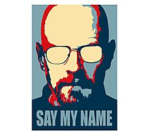 Breaking Bad - Say My Name Photographic Print