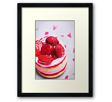 Strawberry Cake 2 Framed Print