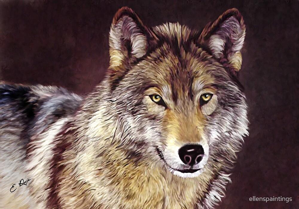 Grey Wolf by ellenspaintings