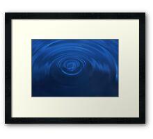 Deep Blue Ripples Framed Print
