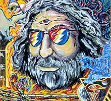 "Jerry Garcia Grateful Dead ""Move me brightly"" by john michael  barone"