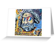 """Jerry Garcia Grateful Dead """"Move me brightly"""" Greeting Card"""