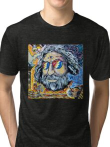 "Jerry Garcia Grateful Dead ""Move me brightly"" Tri-blend T-Shirt"