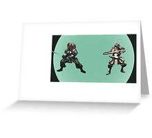 Samurai Jedi Greeting Card