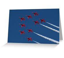 Red Arrows ! Greeting Card