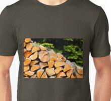 Fragments of alder logs  Unisex T-Shirt
