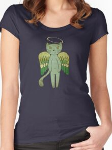 Do good cats go to heaven? Women's Fitted Scoop T-Shirt