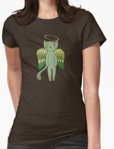 Do good cats go to heaven? Womens Fitted T-Shirt