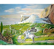 Gandalf riding to Minas Tirith Photographic Print