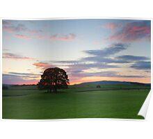 Sunrise, Malhamdale.  Poster