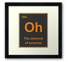 Oh, The Element of Surprise Framed Print