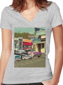 The Motel Women's Fitted V-Neck T-Shirt