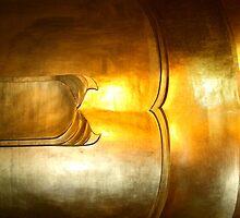 At peace, Buddha Torso, Wat Po, Bangkok, Thailand  by Carole-Anne