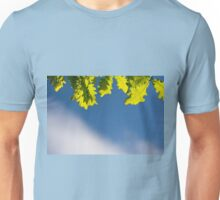 Bunch of green young oak leaves Unisex T-Shirt