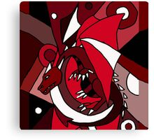 Awesome Red Dragon Abstract Art Original Design Canvas Print