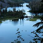 Twin Lakes Mammoth California from Twin Falls by Debra Thomas